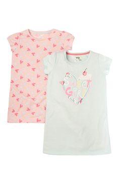 Primark - T-shirts met schattige print, 2 stuks