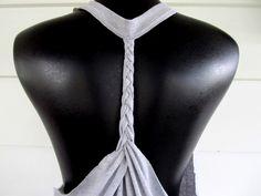 WobiSobi: Racer back tee DIY #2, braided back.