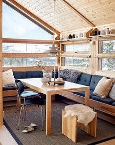 Scandinavian style mountain cottage interior