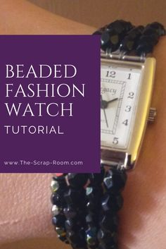 Learn how to make this budget friendly, beaded fashion watch here! It's great for crafters of all skill levels and takes under an hour to make!