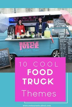 10 Ideas to Inspire Your Next Food Truck Theme 10 Cool Menu Themes for Your Food Truck More<br> Food truck themes range from local fare and gourmet cupcakes to ice cream, tacos, and waffles. Here are 10 examples to inspire your next truck. Kombi Food Truck, Food Truck Menu, Food Truck Design, Food Truck Desserts, Pizza Food Truck, Food Cart Design, Dessert Food, Food Truck Business, Food Business Ideas