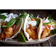 The best part about #meatlessmonday is that it's almost #tacotuesday! Beer Battered Fish Tacos with…