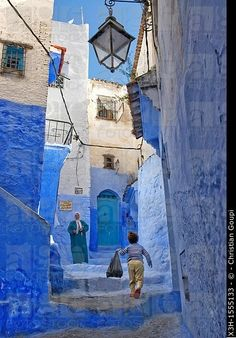 medina of Chefchaouen, Rif region, Morocco, North Africa