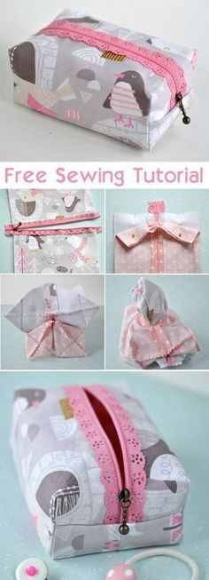 Boxy Lace Zipper Pouch Sewing Tutorial http://www.free-tutorial.net/2017/09/boxy-zipper-pouch-sewing-tutorial.html