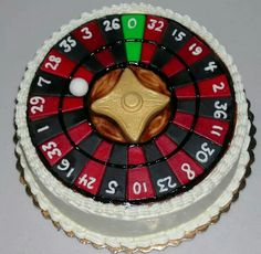 Roulette wheel cake By: Cheryl's Home Kitchen. Find us on FaceBook!