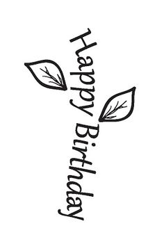 Inspired and Unscripted: Free Happy Birthday Flower Word Art Digital Image
