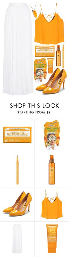 """""""Orangeville"""" by pixleyhunter ❤ liked on Polyvore featuring Dr. Bronner's, Too Faced Cosmetics, Rupert Sanderson, MANGO, Michael Lo Sordo, Formula 10.0.6 and Kenneth Jay Lane"""