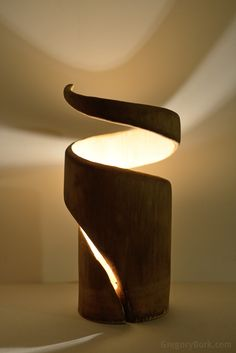 Interesting bamboo lamp/art!