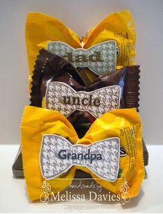 I love these bow tie gifts for all the Dad's in our family for Father's Day.