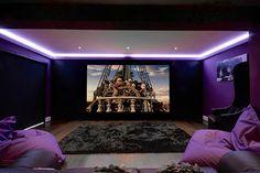 Artcoustic 5.1 speakers,Screen Research 3.05m Screen, JVC Projector,Rako Lighting,Onkyo,RTI Control