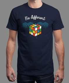 """Be Different"" is today's £8/€10/$12 tee for 24 hours only on www.Qwertee.com Pin this for a chance to win a FREE TEE this weekend. Follow us on pinterest.com/qwertee for a second! Thanks:)"