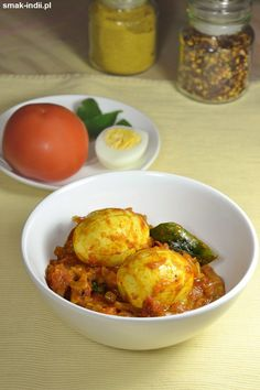 (in Polish) Egg Roast, Garam Masala, Egg Recipes, Kerala, Vegetarian Recipes, Curry, Eggs, Polish, Meat