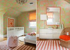 Wallpaper on Angled Walls...Angie Hranowsky: Interior Design in Charleston, SC