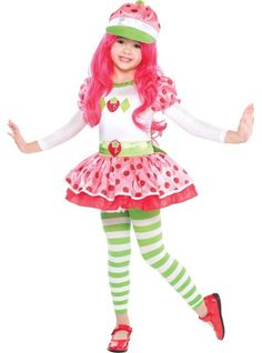 Toddler Girls Strawberry Shortcake Costume - Party City  sc 1 st  Pinterest & Cute Strawberry Shortcake Costume for a Girl | Strawberry shortcake ...
