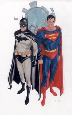 Phil Noto Batman and Superman.