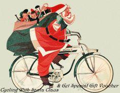 Babbo Natale In Bicicletta.37 Immagini Strepitose Di Santa Claus Cycling Babbo Natale In