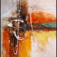 theu13- schilderij modern 100x100 Nieuw!