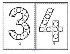 Numbers Bingo Dot Markers 0-20 Fine Motor and Counting