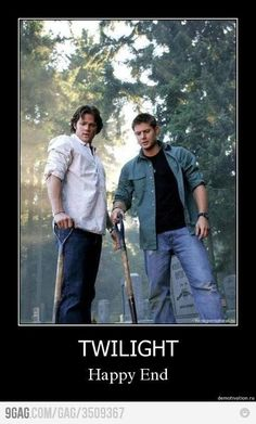 These two men, at their worst, will always be more attractive than ANYTHING in Twilight. Thank you, Wincherter's.