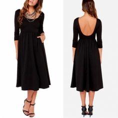 New Women Fashion O-Neck Sexy Backless Casual Chiffon Patchwork Pleated Elastic Dress