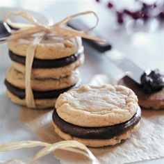 These look sooo yummy.  Chocolate and peanut butter together in one cookie...