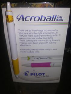 #univoxbox Acroball pen! Gotta take notes in class Got this FREE from Influenster as a complimentary product to review @pilotpenusa #PenItFWD