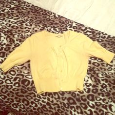 Yellow cardigan sweater Pale yellow cardigan sweater size M. Gently worn. Although it is a size M it fits closer to a size XS/S wore only a few times because it was so small on me. Still in great condition! Great item to include in a bundle! Forever 21 Sweaters Cardigans