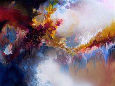 Imagine by John Lennon, synesthetic painting by Melissa McCraken