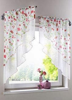 cortinas, the hardware No Sew Curtains, Curtains With Blinds, Valance, Mini Blinds, Wood Blinds, Rideaux Design, Farmhouse Window Treatments, Regal Design, Farmhouse Windows