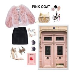 """Hey Girl! Pretty Pink Coat"" by stylesmanda on Polyvore featuring Pottery Barn, New Look, Florence Bridge, Gianvito Rossi, Chloé, Spitfire and Simons"