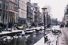 Amsterdam in winter Amsterdam Winter, I Amsterdam, Amsterdam Netherlands, Adventure Is Out There, Adventure Time, Places To Travel, Holland, Street View, City