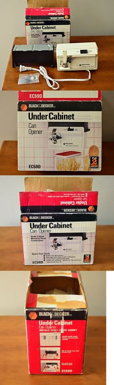 Vintage Black Decker Space Maker Saver Can Opener Under Cabinet EC60CAD