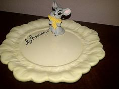 Holland Mold MOUSE and CHEESE Plate by maggiecastillo on Etsy, $6.48