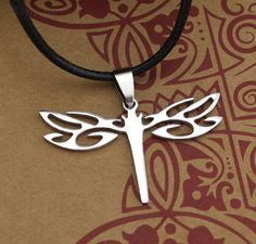 Beautiful Stainless Dragonfly Necklace $12.95  Elegant but modern dragonfly stainless steel necklace for all dragonfly lovers to wear with pride. Perfect to symbolize change in mental or emotional maturity and a deeper understanding of life. What does a dragonfly symbolize for you?
