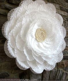 Made with coffee filters!