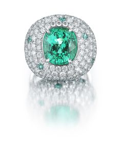 Paolo Costagli Paraiba Tourmaline and Diamond Ring - Photo courtesy of Paolo Costagli