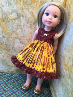 A personal favorite from my Etsy shop https://www.etsy.com/listing/513246067/batik-doll-dress-for-wellie-wishers