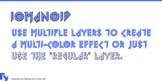 Iomanoid Font Family · 1001 Fonts
