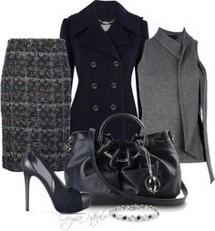 """Navy & Boucle"" by orysa on Polyvore"