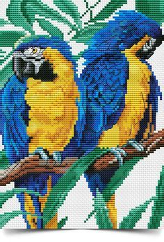 Cross Stitch Bird, Cross Stitch Animals, Cross Stitch Charts, Cross Stitch Patterns, Baby Girl Elephant, Embroidery Stitches Tutorial, Happy Birthday Images, Needlepoint Canvases, Felt Toys