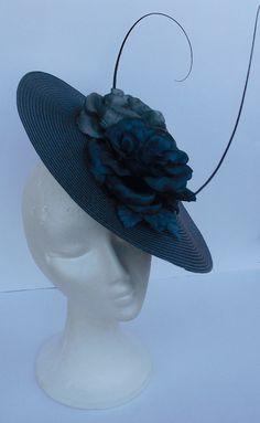 Cobalt blue fascinator hat headpiece / Weddings / by TocameMika, $125.00