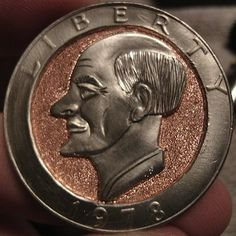 JOEY BLAYLOCK HOBO DOLLAR - OLD MAN - 1978 CCC EISENHOWER DOLLAR Hobo Nickel, Coins, Rooms