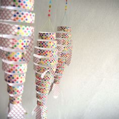Design from Paris | Mobile Flying Fish - Confetti | Objects deco and design | Mobile