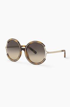 Chloé Jayme sunglasses in nylon resin and metal (Havanna)