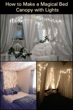 Turn Your Bedroom into a Magical Place with this Bed Canopy with Fairy Lights! - Turn Your Bedroom into a Magical Place with this Bed Canopy with Fairy Lights! – Turn Your Bedro -