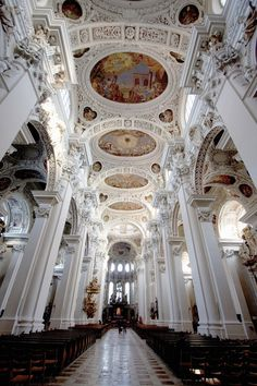 St. Stephen's Cathedral in Passau, Germany.Most Beautiful Church Ceilings Photos | Architectural Digest