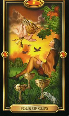 Four of Cups Gilded Tarot
