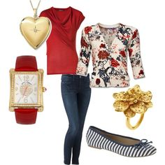 Love the Accessories and Especially the Floral Sweater  :)