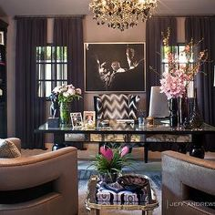 Khloe Kardashian Office, Contemporary, den/library/office, Jeff Andrews Design