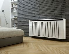 MODERN DESIGNER CHROME FLAT PANEL HORIZONTAL RADIATOR HEATER